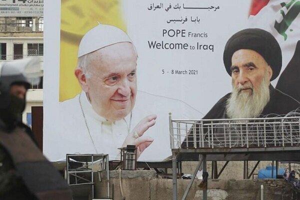 رهبر کاتولیکهای جهان با آیتالله سیستانی دیدار کرد