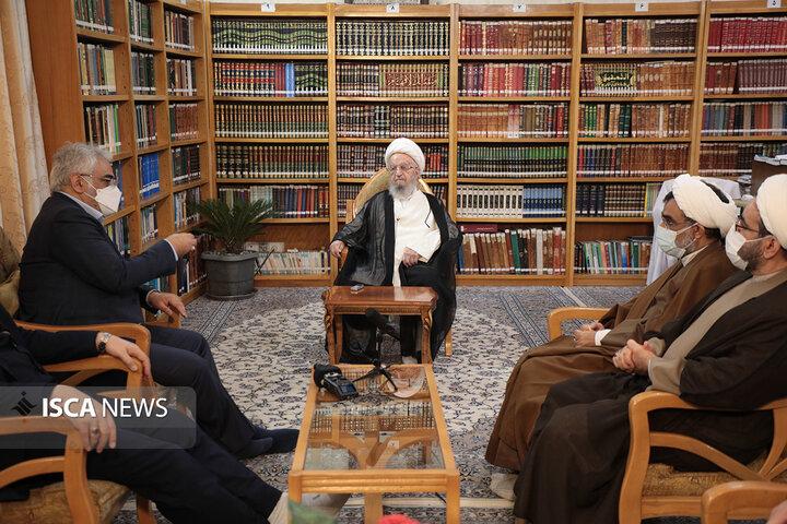دیدار رئیس دانشگاه آزاد اسلامی با مراجع عظام تقلید