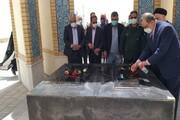 ادای احترام دکتر طهرانچی به شهدای گمنام منطقه آزاد چابهار