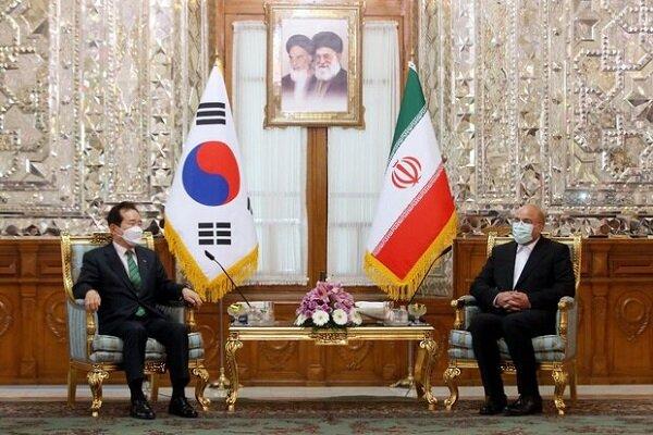 نخست وزیر کره جنوبی با قالیباف و علی لاریجانی دیدار کرد