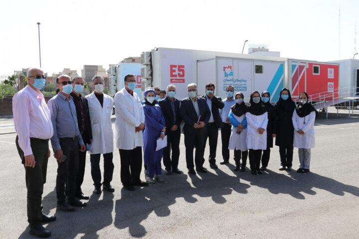 کانکسهای بیمارستان صحرایی در بیمارستان بوعلی راهاندازی شد