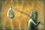 احساس فقر روستاییان را به شهرها میکشاند