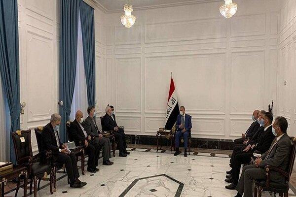 دیدار «محمد جواد ظریف» با رئیس مجلس عراق