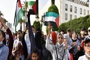 اعتراض مردم در 50 شهر مغرب علیه جنایات رژیم صهیونیستی