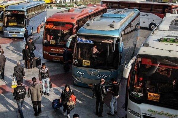 منع تردد سبب هجوم مسافران به اتوبوسهای بین شهری شد