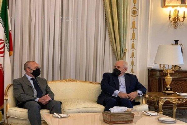 رایزنی ظریف با رییس کمیسیون سیاست خارجی سنای ایتالیا