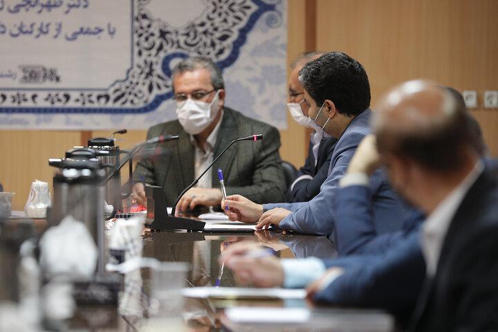 دیدار و گفتگوی دکتر طهرانچی با جمعی