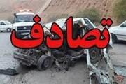 تصادف زنجیرهای ۲۰ خودرو به دلیل گرد و غبار