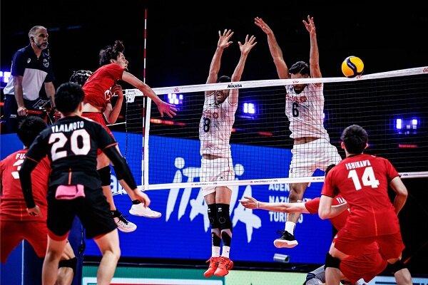 شکست تیم ملی والیبال ایران مقابل ژاپن در غیاب معروف