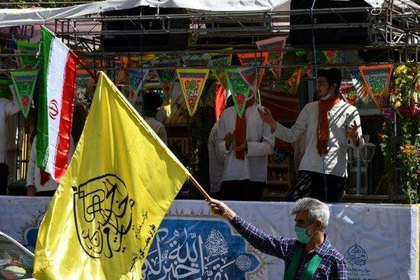 کاروان شادی دهه کرامت در مناطق مختلف تهران