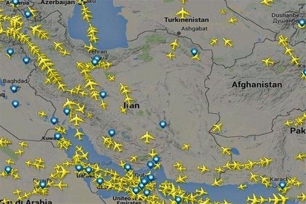 افزایش ۱۳۰ درصدی پروازهای عبوری از آسمان ایران