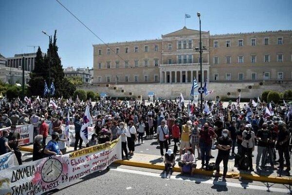 اعتراض در یونان در مخالفت با اصلاح قانون کار