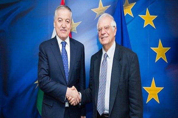 دیدار وزیر خارجه تاجیکستان با نماینده اتحادیه اروپا در سیاست خارجی