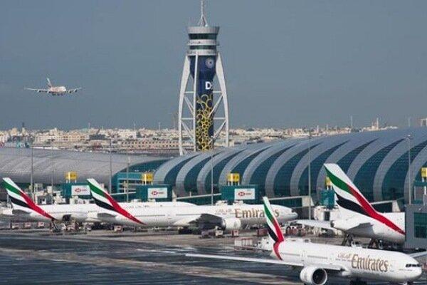 برخورد دو هواپیما در فرودگاه دبی