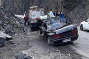 یک کشته در پی ریزش سنگ در جاده هراز
