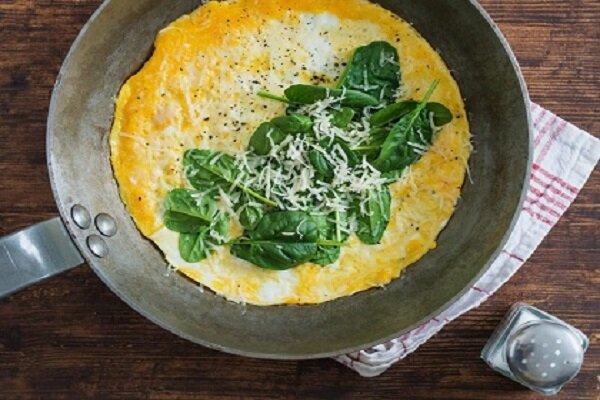 آموزش پخت املت اسفناج و پنیر