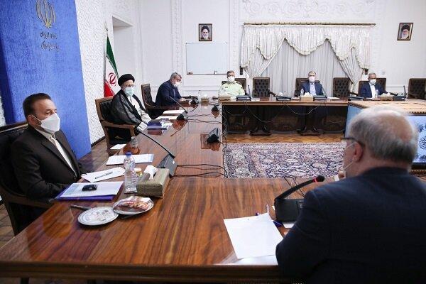 حضور آیت الله رئیسی در جلسه هیئت دولت / ارائه گزارش وزرای روحانی به رئیس جمهور جدید