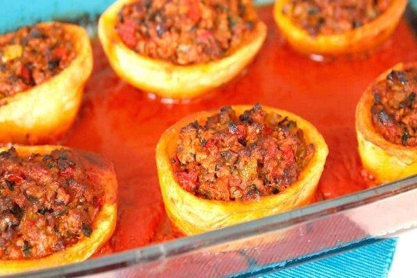 آموزش آشپزی / دلمه سیب زمینی