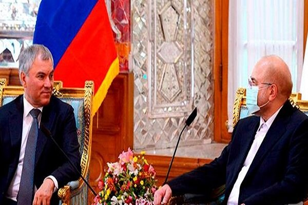روسای مجلس ایران و روسیه بر ارتقای روابط اقتصادی تاکید کردند