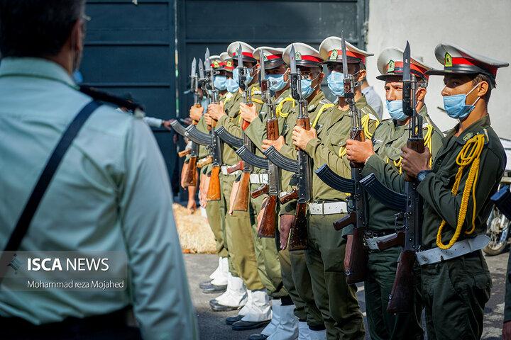 آیین بهره برداری از ساختمان موقت ستاد فرماندهی انتظامی شهر ری و کمک همدلانه کارکنان آن سازمان