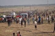 تیراندازی نظامیان صهیونیست به سمت تظاهراتکننگان در نوار غزه