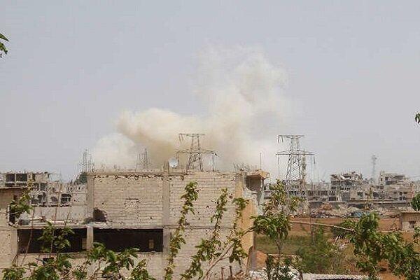 مقر تروریستها در درعا هدف ارتش سوریه قرار گرفت