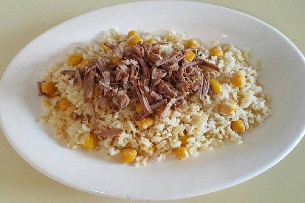 آموزش آشپزی / طرز تهیه نخود پلو با گوشت