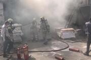 وقوع آتشسوزی گسترده در گاراژی واقع در خیابان قزوین