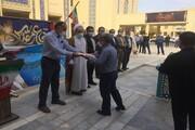 برگزاری همایش پیادهروی در واحد یزد به مناسبت گرامیداشت هفته دفاع مقدس