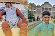 شهید علی لندی نوجوان ایذهای نشان فداکاری ارتش را دریافت کرد