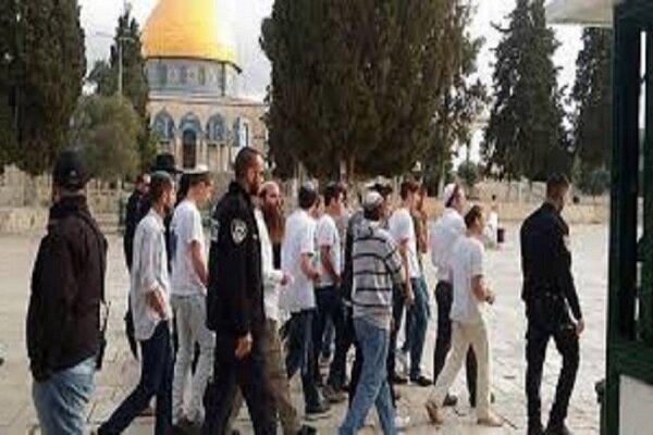 یورش شهرکنشینان صهیونیست به «مسجدالاقصی»