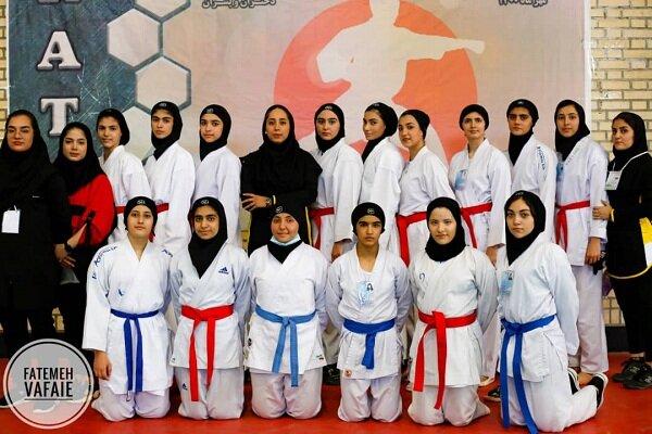 ورزشکاران دانشگاه آزاد اسلامی واحد همدان درمسابقات کاراته انتخابی استان همدان شرکت کردند