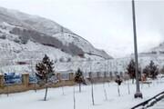 نخستین برف پاییزی مازندران را سفیدپوش کرد