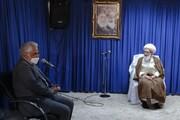رئیس دانشگاه آزاد اسلامی با آیتالله نوری همدانی دیدار کرد