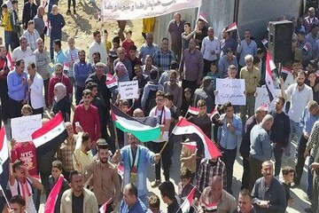 اعتراضات به حضور نظامی ترکیه در سوریه ادامه دارد