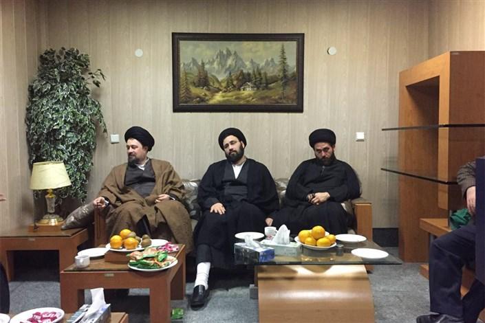 عیادت سیدحسن خمینی از آیت الله موسوی اردبیلی