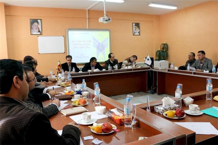 جلسه ستاد شاهد و امور ایثارگران واحد های استان با مدیر کل بنیاد شهید اردبیل