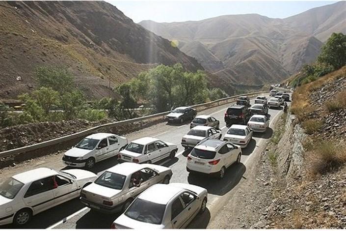 ترافیک سنگین در جادههای شمالی در سومین روز از مهرماه