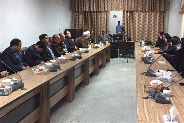 دیدار اعضای هیئت رئیسه واحد صوفیان با استادان وکارکنان