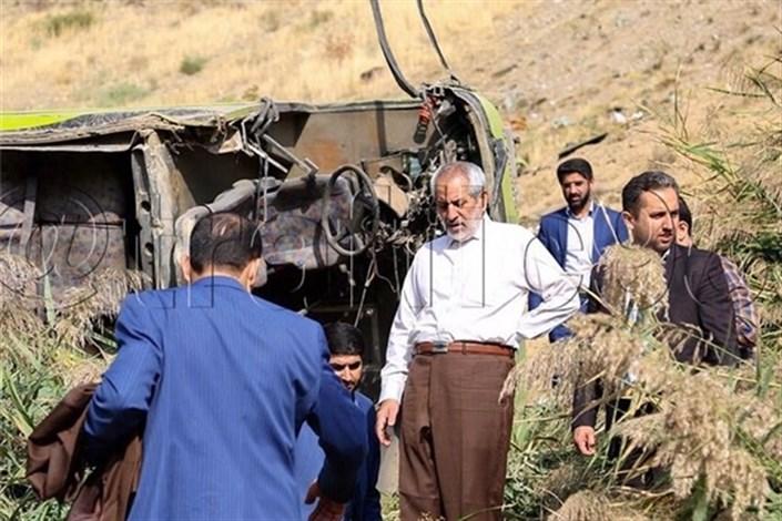 دادستان تهران در محل سقوط اتوبوس حضور یافت