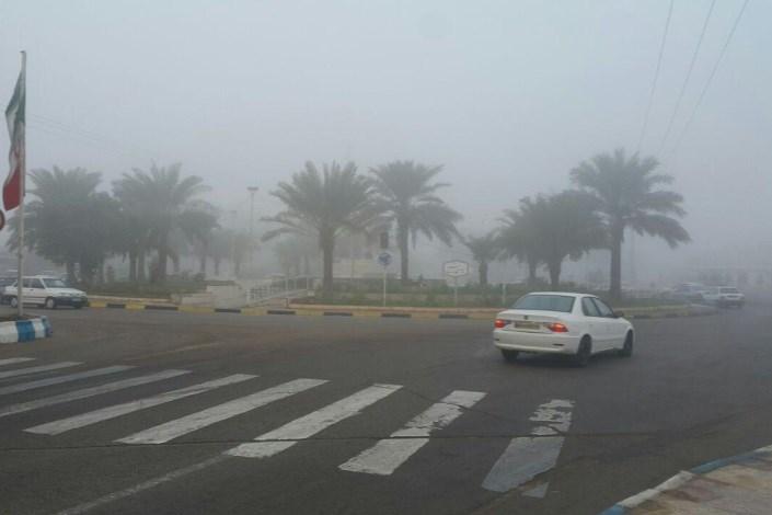 مه آلود شدن محورهای پرتردد اصفهان