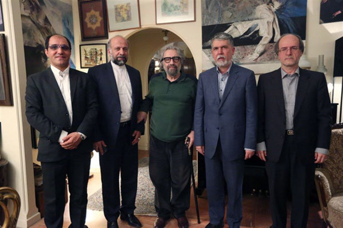 وزیر فرهنگ و ارشاد اسلامی به دیدن مسعود کیمیایی رفت