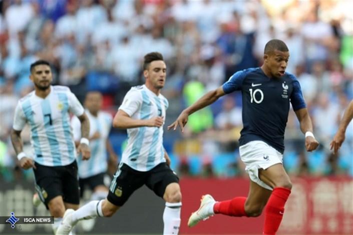 تساوی جذاب فرانسه و آرژانتین در نیمه اول