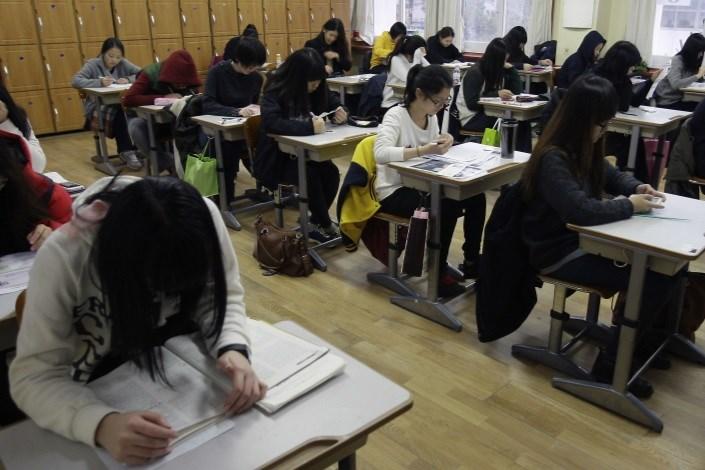 آزمون ورودی دانشگاه های کره جنوبی، بیش از 8 ساعت  طول می کشد!