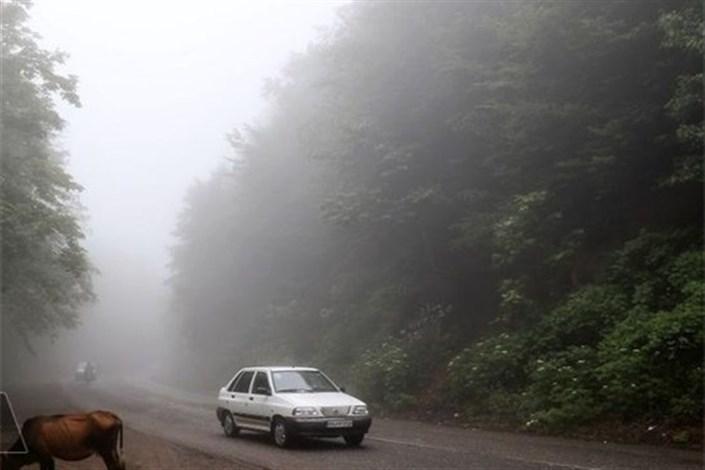 ترافیک سنگین دراتوبان کرج به تهران/مه گرفتگی در جاده های اردبیل