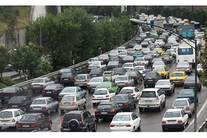 وضعیت ترافیک صبحگاهی بزرگراه های تهران
