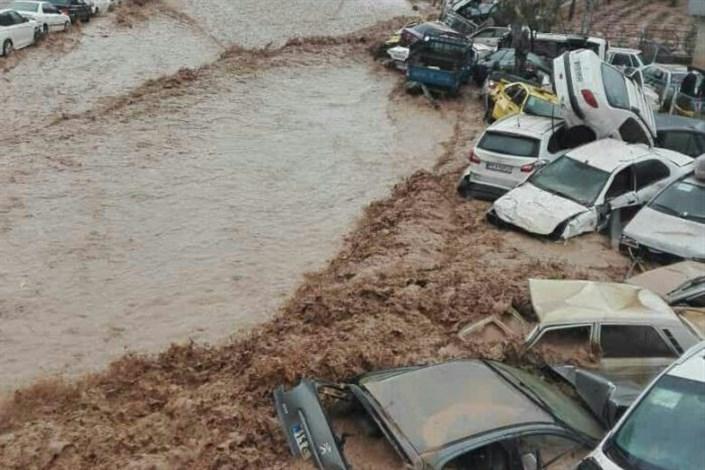 سیل ۲۰۰ خودرو را در شیراز با خود برد