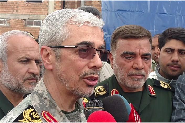 سرلشکر باقری: بیش از ۷هزار نفر به بیمارستان صحرایی نیروی زمینی سپاه مراجعه کردند