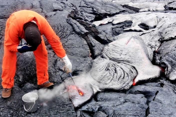 کشف آب در ماگما