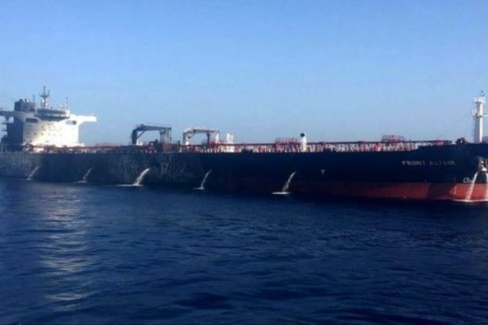 نفتکش هپینس ۱ پس از ۲ ماه و ۲۰ روز راهی آبهای ایران شد